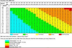 tabel BMI Chart